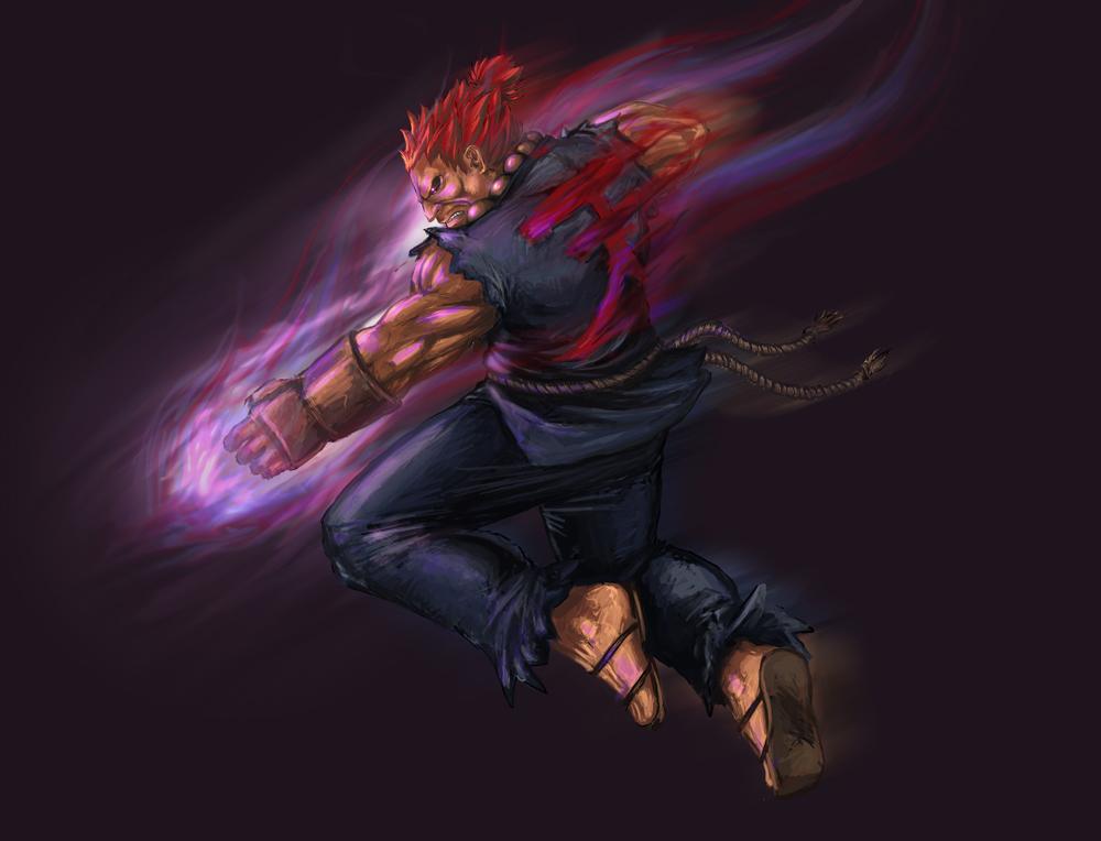 Street Fighter- Akuma by YamaOrce
