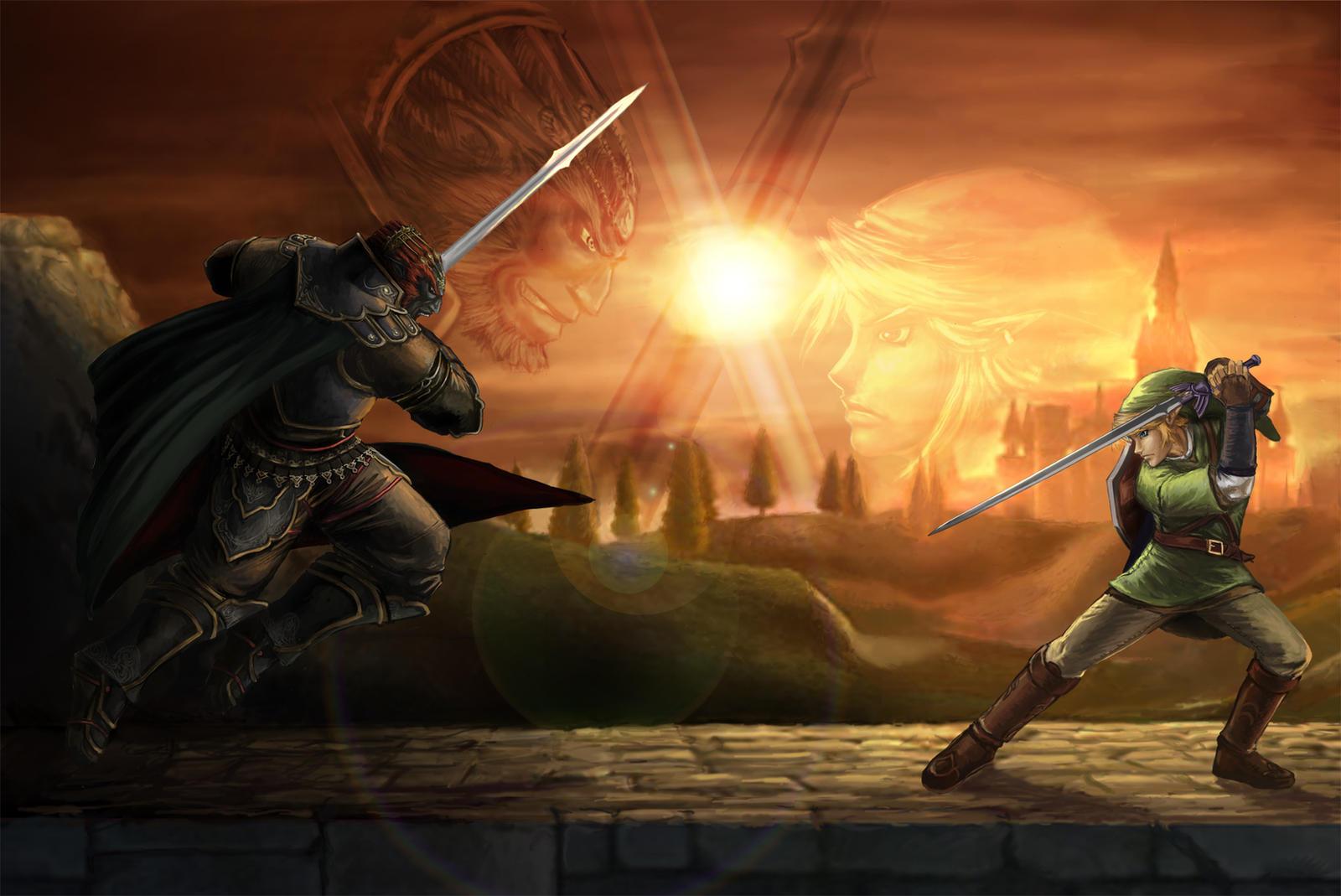 Link vs Ganondorf by YamaOrce