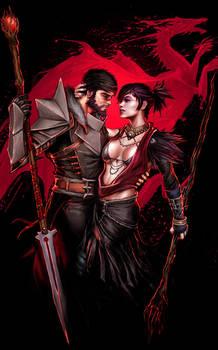 Dragon Age - Hawke  Morrigan fv by YamaOrce