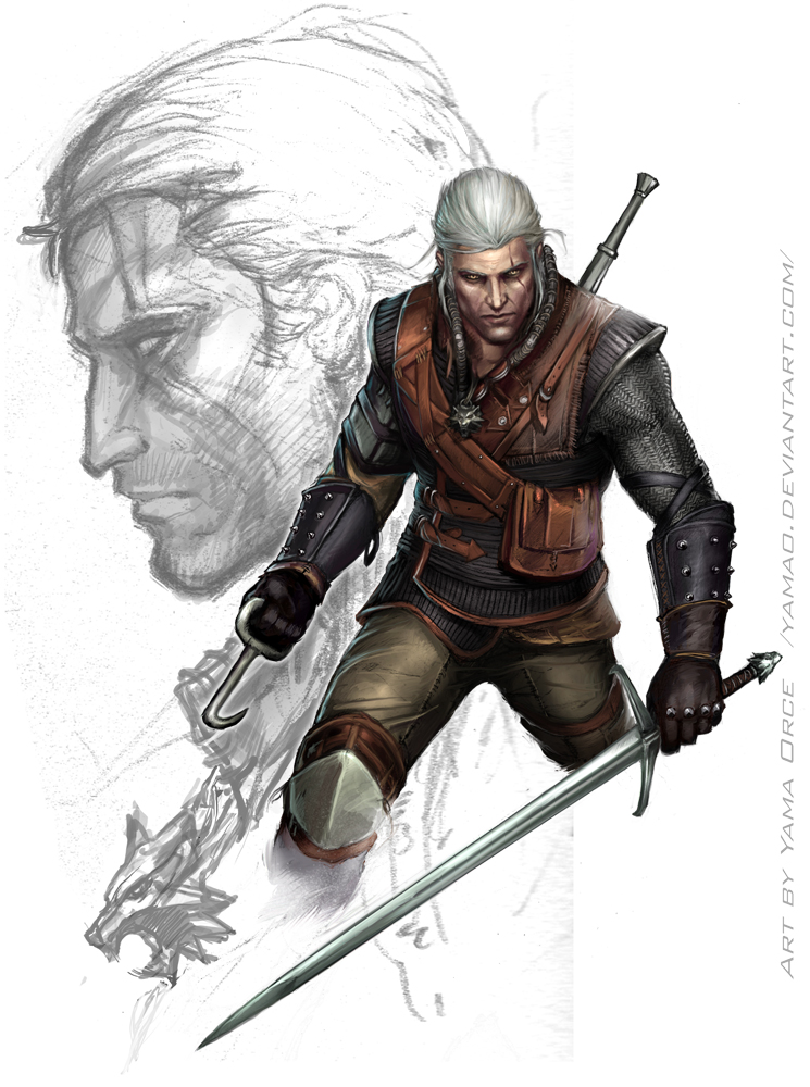 Geralt Of Rivia By Yamaorce Witcher