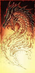 Raging Dragon by YamaOrce