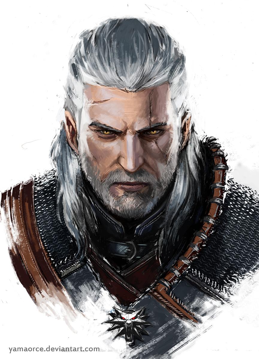 Geralt Portrait By Yamaorce On Deviantart