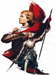 Joan d'Arc Sketch by YamaOrce