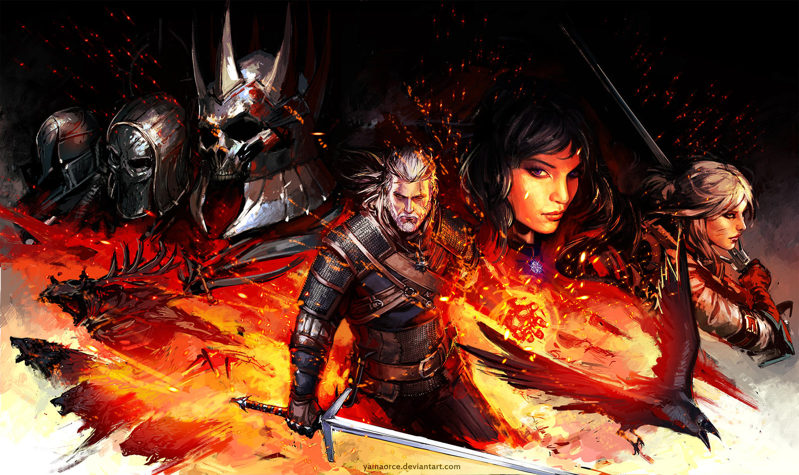 The Witcher-Wild Hunt by YamaOrce