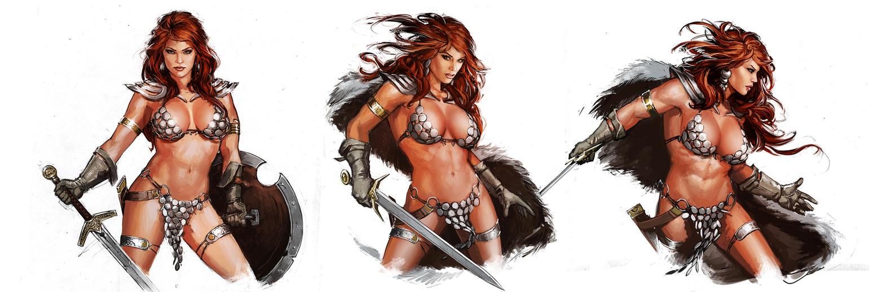 Red Sonja Studies by YamaOrce