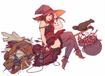 Pathfinder Witch by YamaOrce