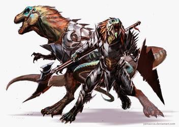 Lizardfolk Hunter by YamaOrce