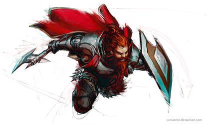 Action Dwarf by YamaOrce
