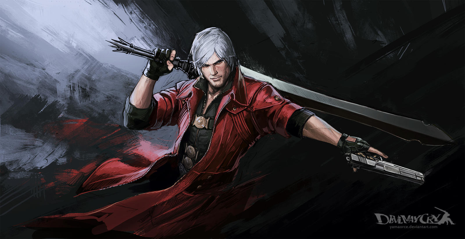 Devil May Cry Dante Wallpaper: Devil May Cry-Dante By YamaOrce On DeviantArt