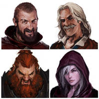 Merry Mercenaries Portraits