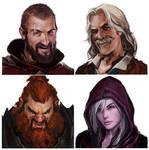 Merry Mercenaries Portraits