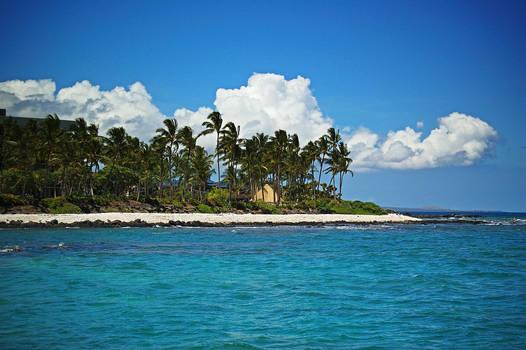 Paradise beach White clouds