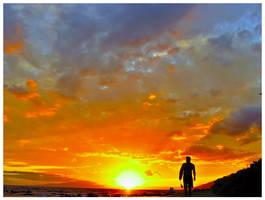 Sky on fire by LeGreg