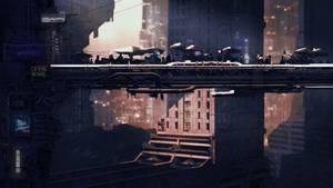 Dystopian Cityscape 2