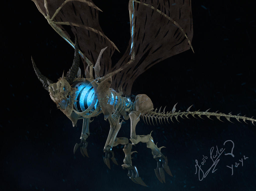 Lich King's undead dragon by Panc0