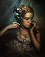 Girl With Flower Tatoo by Jans-art
