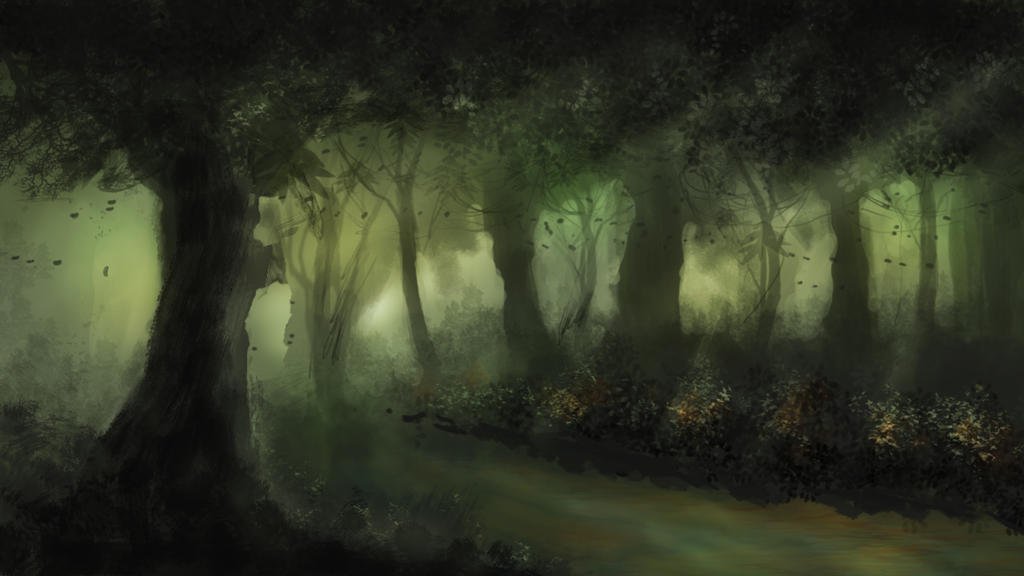 Green forest by Manink