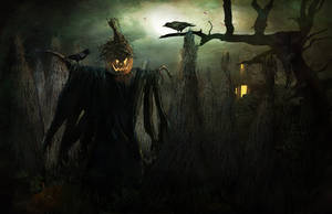 Halloween Scarecrow by Jans-art