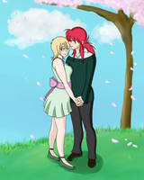 Valentine under the Sakura