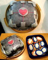 Portal Cake and Cookies