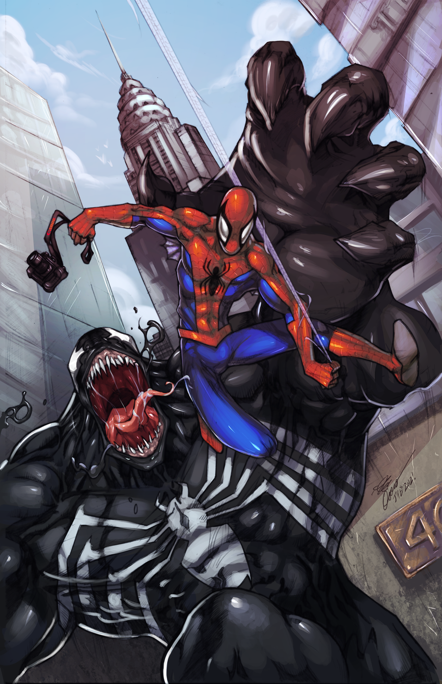 ::Spidey on da Run -Only Colors:: by IvyBeth