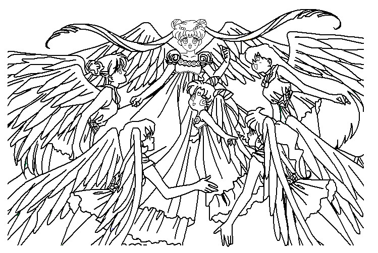Sailor angels coloring page by paramourphoenix
