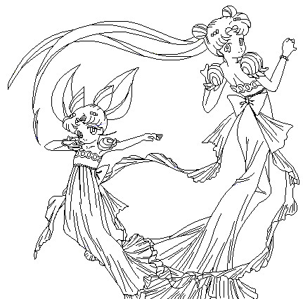 dancing princess coloring page by paramourphoenix
