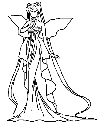 queen serenity coloring pages | Neo Queen Serenity Coloring Pages Coloring Pages