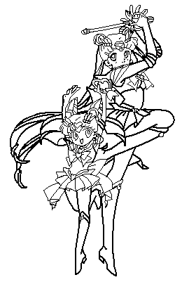 moon mini moon 2 coloring page by paramourphoenix - Sailor Moon Coloring Pages 2