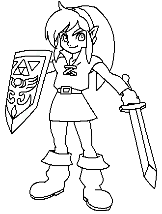 link sword coloring page by paramourphoenix - Link Coloring Pages