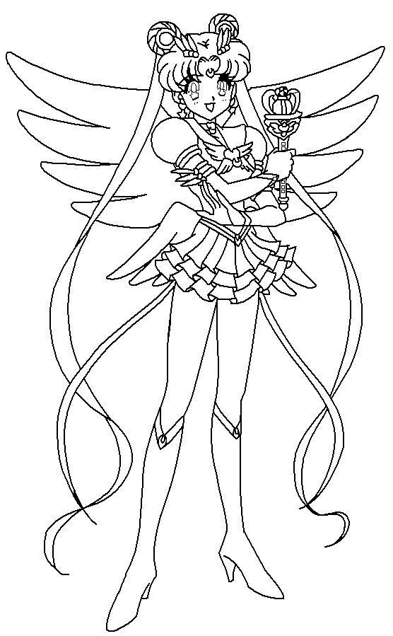 eternal moon coloring page by paramourphoenix on deviantart