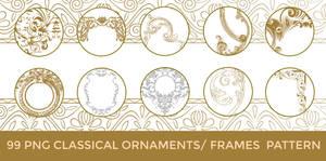99 PNG Classical Ornaments - Frames-Swirls Pattern