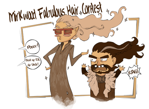 The Mirkwood Fabulous Hair Contest ::Sketch::