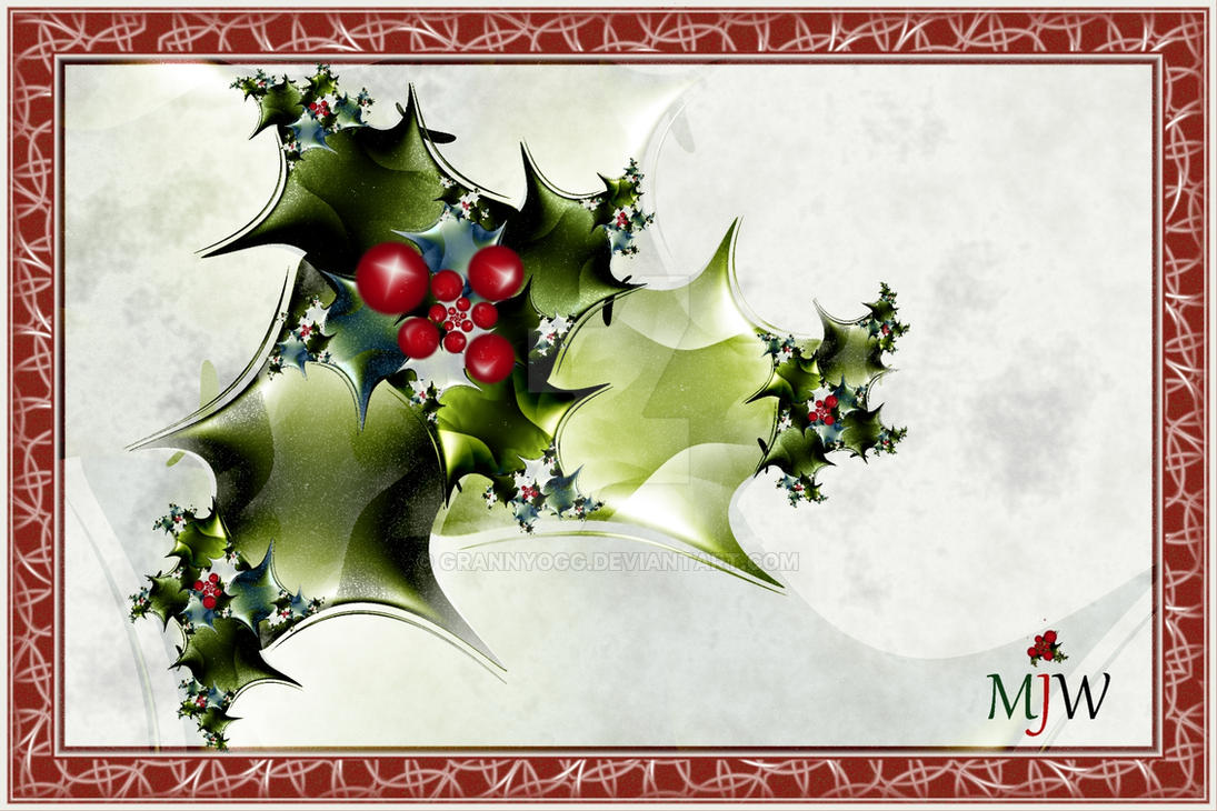 Xmas Holly by GrannyOgg