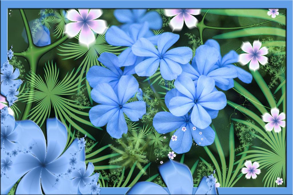 Blue Flower by GrannyOgg