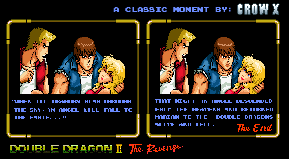 double dragon 2 arcade ending