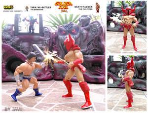 GOLDEN AXE the duel ax vs death adder
