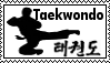 Taekwondo flying side kick stamp by templarknight94