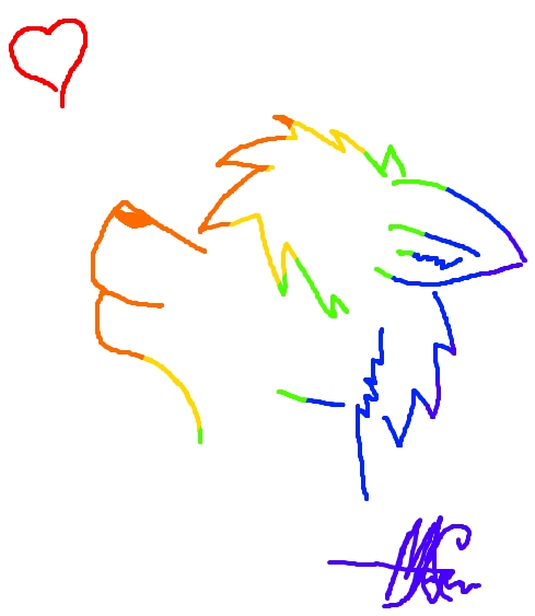 Rainbow Mutt :Doodle: by XVinityxKaiX