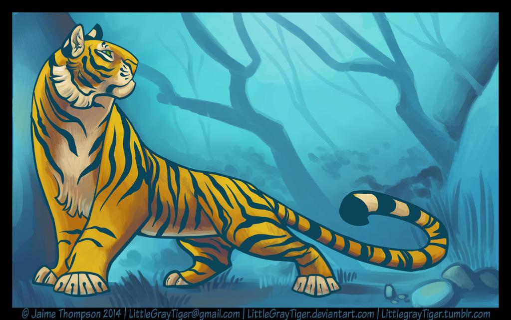 Teal and Orange by LittleGrayTiger