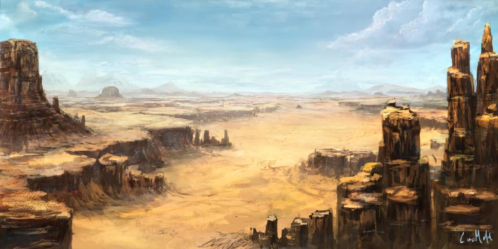 Desert Landscape By Rambled On DeviantArt