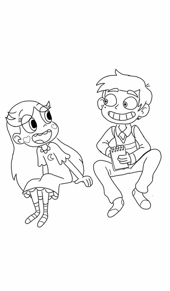 star butterfly and marco diaz outline by ppgfan02 on deviantart