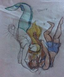 A Fun Romantic Merman Doodle 7/20/16