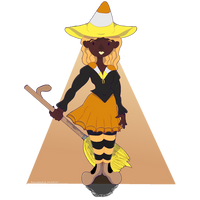 Candy Corn Witch- Halloween 2017