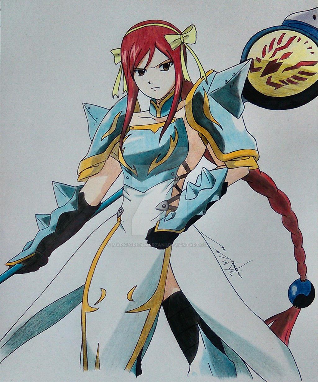 lightning empress armor of erza scarlet by