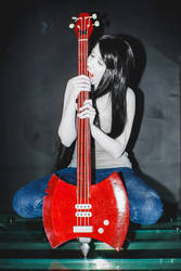 Marceline cosplay - sucking all read? no