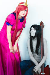 Marceline and Princess Bubblegum cosplay