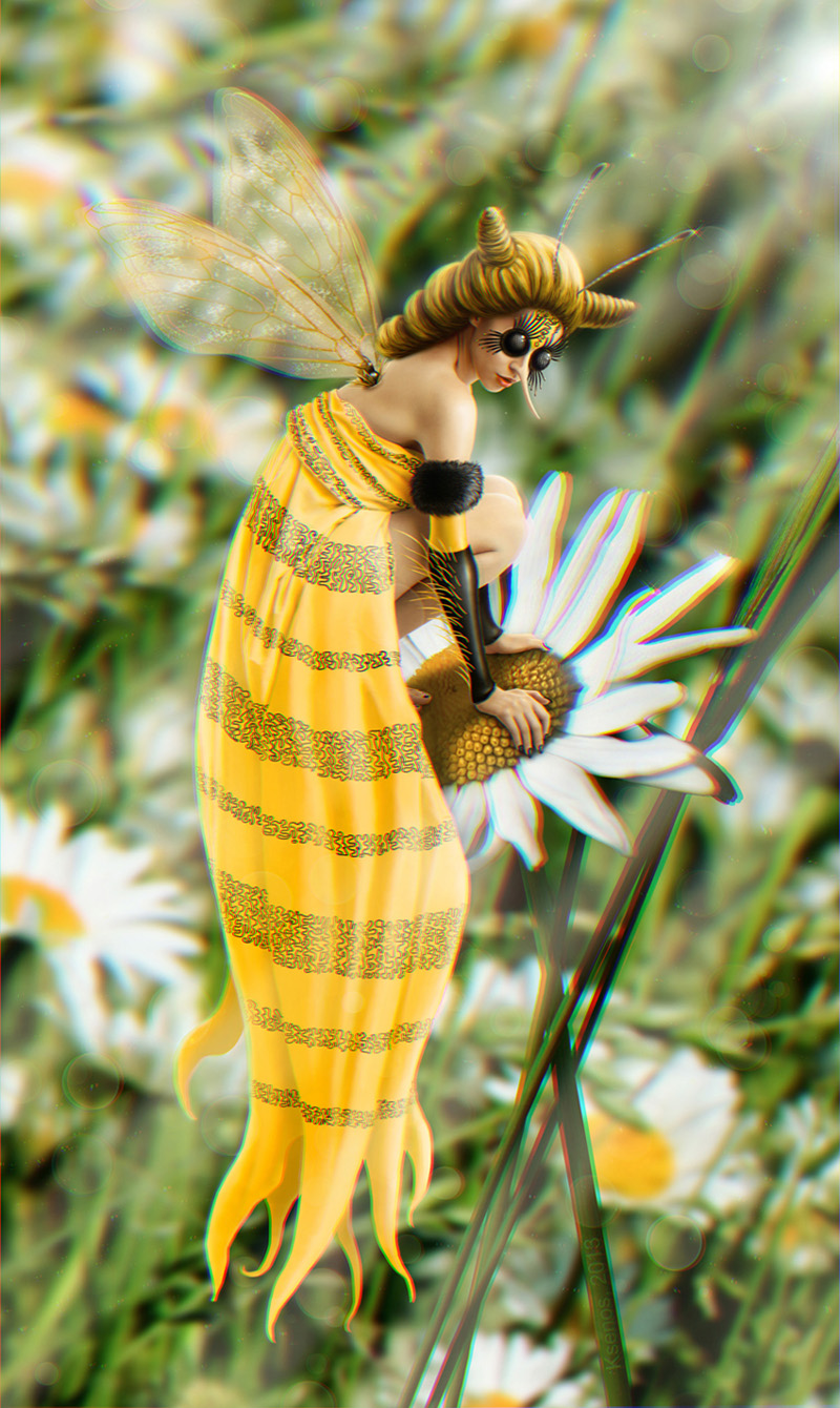 A bee girl by Ksenos-ks
