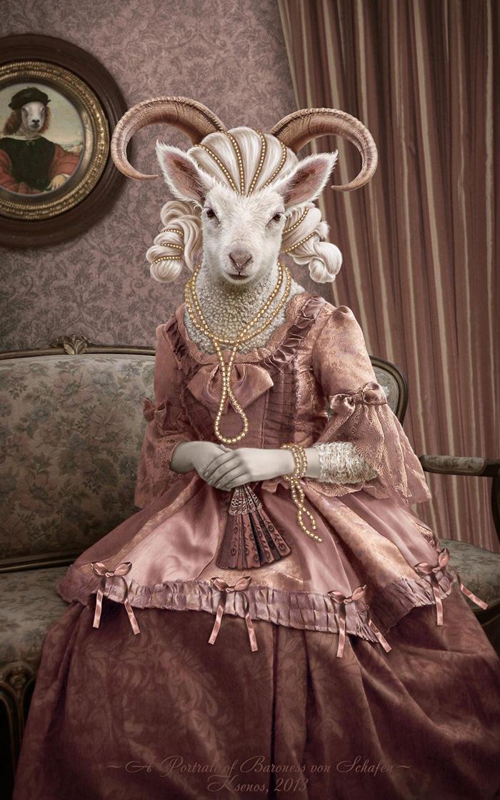A Portrait of Baroness von Schafen by Ksenos-ks