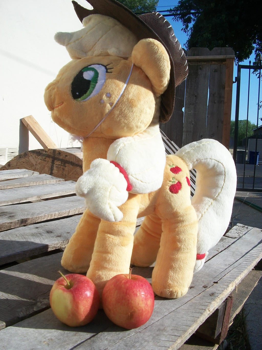 Applejack MLP FIM Handmade Plushie by inudewaruika